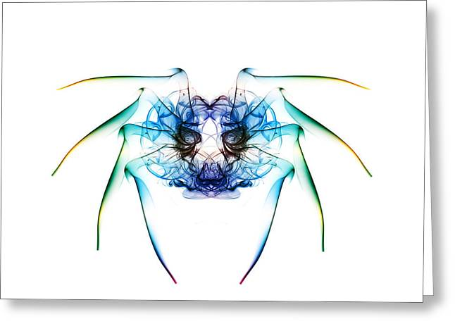 Smoking Trail Greeting Cards - Smoke Spider 2 Greeting Card by Steve Purnell