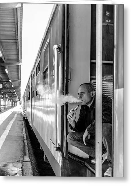 Long Street Greeting Cards - Smoke Greeting Card by Tgchan