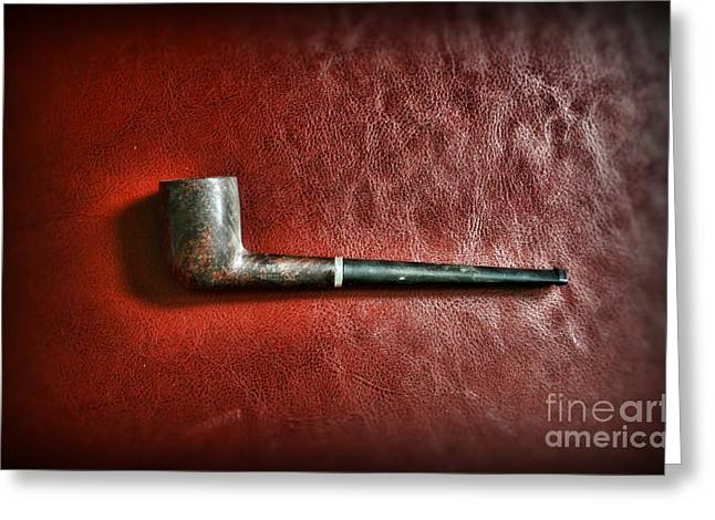 Smoker Greeting Cards - Smoker - Pipe 2 - Frank Medico Greeting Card by Paul Ward