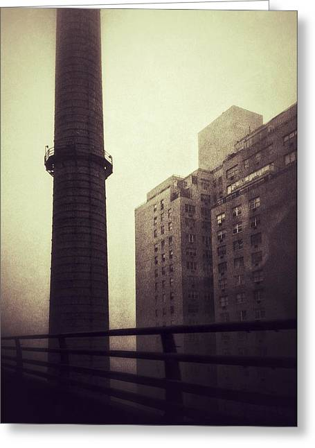 Gotham City Greeting Cards - Smokestack Greeting Card by H James Hoff