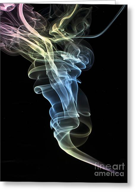 Algorithmic Photographs Greeting Cards - Smokey 1 Greeting Card by Steve Purnell