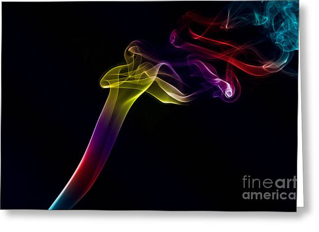 Algorithmic Photographs Greeting Cards - Smokey 10 Greeting Card by Steve Purnell