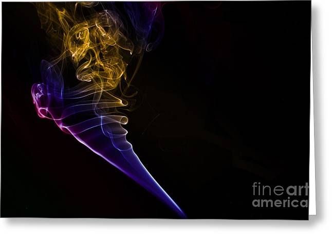 Algorithmic Photographs Greeting Cards - Smokey 12 Greeting Card by Steve Purnell