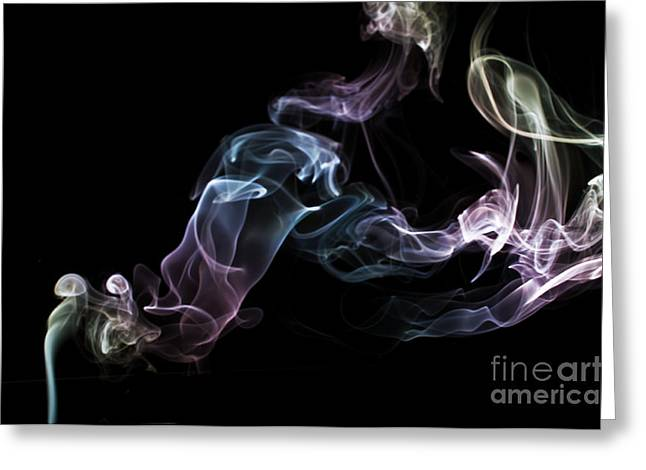 Algorithmic Photographs Greeting Cards - Smokey 16 Greeting Card by Steve Purnell