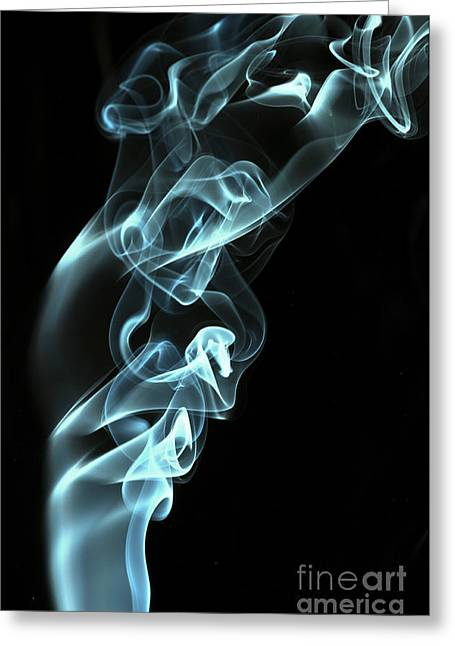 Smoking Trail Greeting Cards - Smokey 8 Greeting Card by Steve Purnell
