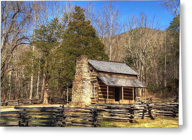 Smokey Mountain Cabin Greeting Card by Daniel Eskridge