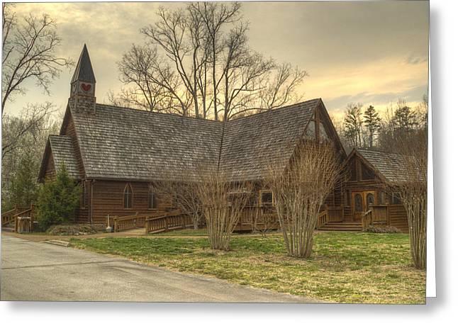 Betrothal Greeting Cards - Smokey Mountain Love Chapel 1 Greeting Card by Douglas Barnett