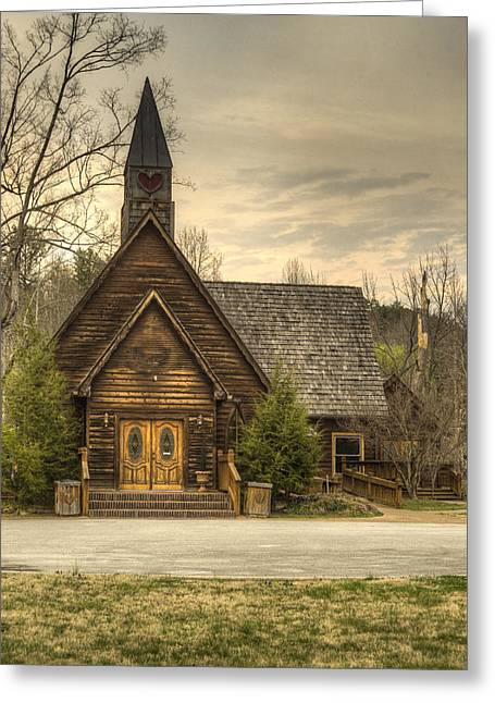 Betrothal Greeting Cards - Smokey Mountain Love Chapel 2 Greeting Card by Douglas Barnett