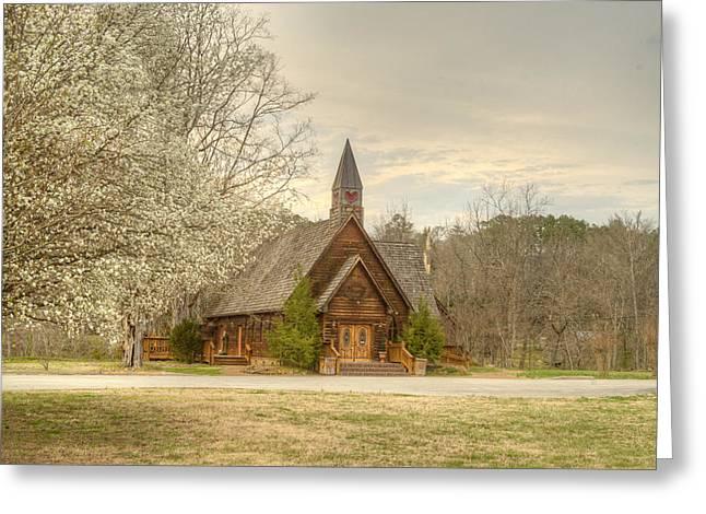 Betrothal Greeting Cards - Smokey Mountain Love Chapel 3 Greeting Card by Douglas Barnett