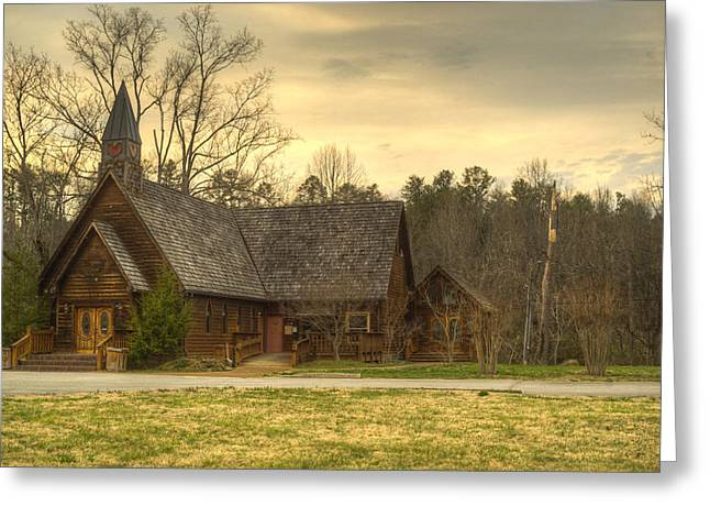 Betrothal Greeting Cards - Smokey Mountain Love Chapel 4 Greeting Card by Douglas Barnett