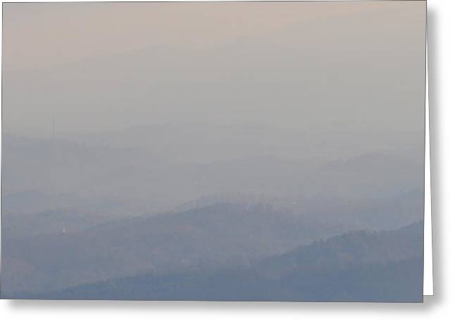 Smokey Ripples 2 Greeting Card by Peter  McIntosh