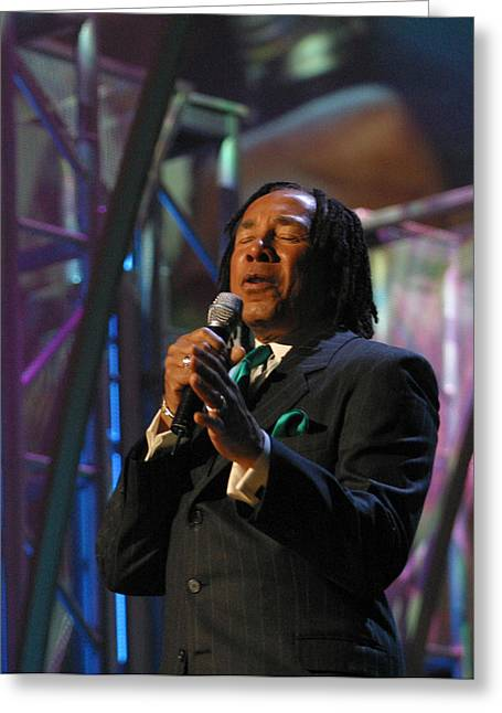 New Jack Swing Greeting Cards - Smokey Robinson Greeting Card by Don Olea