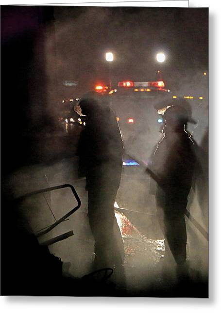 Road Crew Greeting Cards - Smokey Shadows Greeting Card by Christopher McKenzie