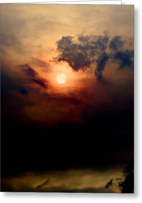 Smokey Sun Greeting Card by John Harwood