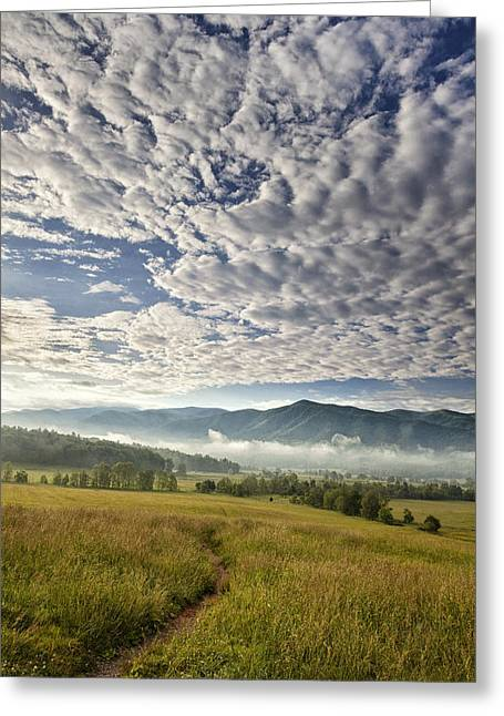 Leading Lines Greeting Cards - Smokies Cloudscape Greeting Card by Andrew Soundarajan