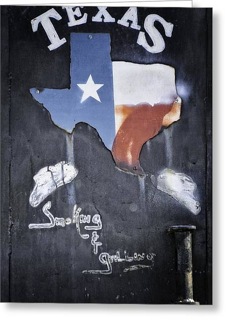 Sauvie Island Greeting Cards - Smoking And Grilling Texas Style Greeting Card by Image Takers Photography LLC - Carol Haddon