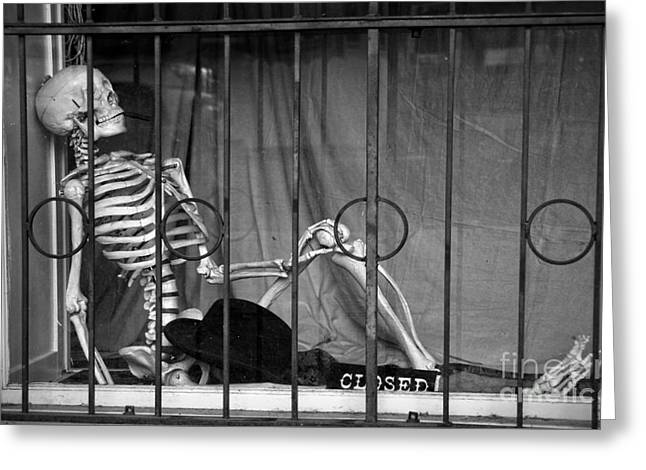 Window Bars Greeting Cards - Smoking in the window Greeting Card by RicardMN Photography