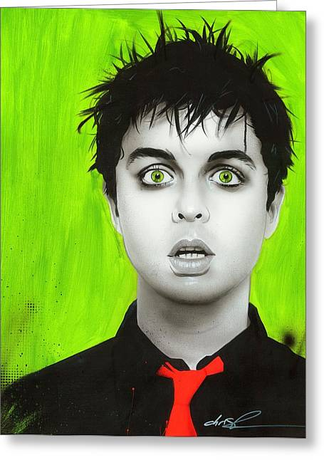 Green Day Greeting Cards - Smoking my Inspirationnnn Greeting Card by Christian Chapman Art