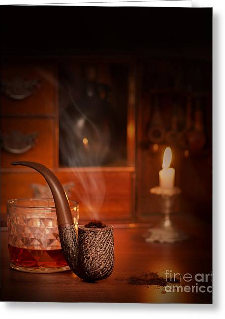 Tumbler Greeting Cards - Smoking Pipe Greeting Card by Amanda And Christopher Elwell