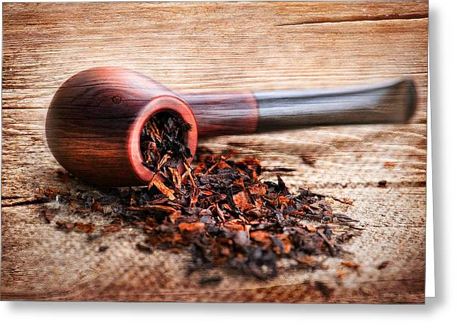 Bar Accessory Greeting Cards - Smoking Pipe Greeting Card by Perfect Lazybones