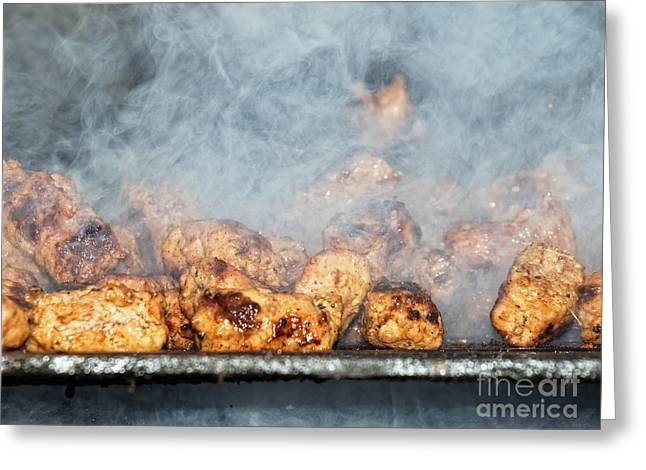 Fries Greeting Cards - Smoky barbecue Greeting Card by Sinisa Botas