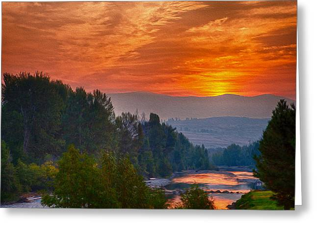 Methow Valley Greeting Cards - Smoky Brilliance Greeting Card by Omaste Witkowski