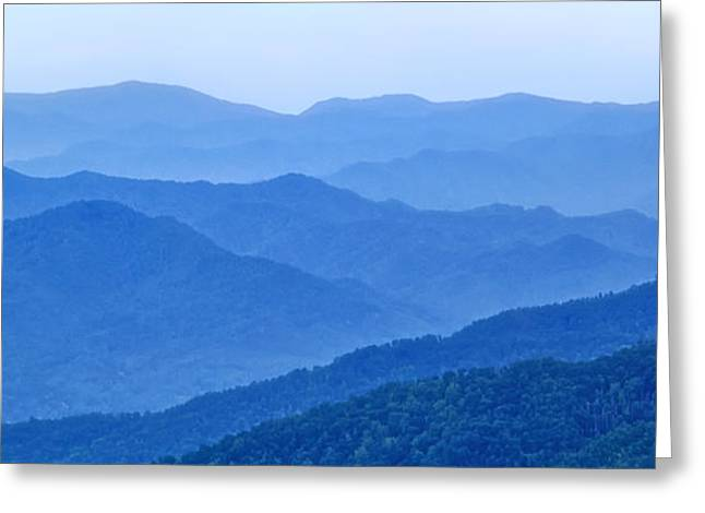Scenic Drive Greeting Cards - Smoky Mountain Blues Greeting Card by Carolyn Derstine
