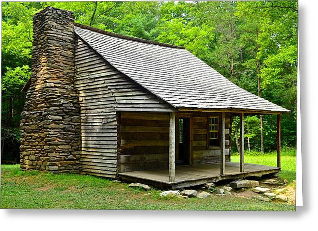 Smoky Greeting Cards - Smoky Mountain Cabin Greeting Card by Frozen in Time Fine Art Photography
