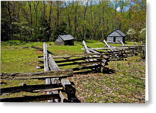 Log Cabins Greeting Cards - Smoky Mountain Cabins Greeting Card by Paul W Faust -  Impressions of Light