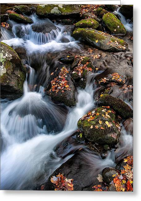 Tennessee River Greeting Cards - Smoky Mountain Cascades Greeting Card by Rick Barnard