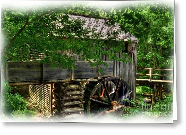 Grist Mill Greeting Cards - Smoky Mountain Mill Greeting Card by Mel Steinhauer