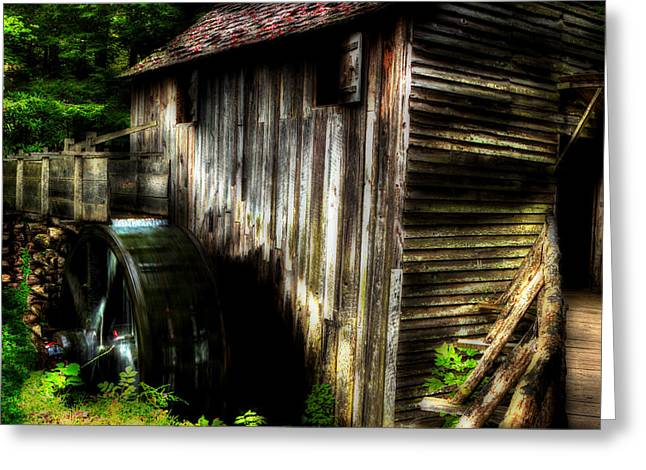 Grist Mill Greeting Cards - Smoky Mountain Mill Greeting Card by Michael Eingle