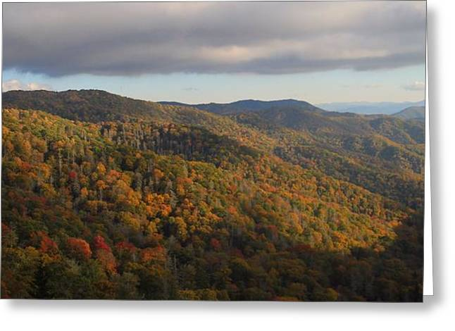 Gatlinburg Tennessee Greeting Cards - Smoky Mountain Morning In October Greeting Card by Dan Sproul