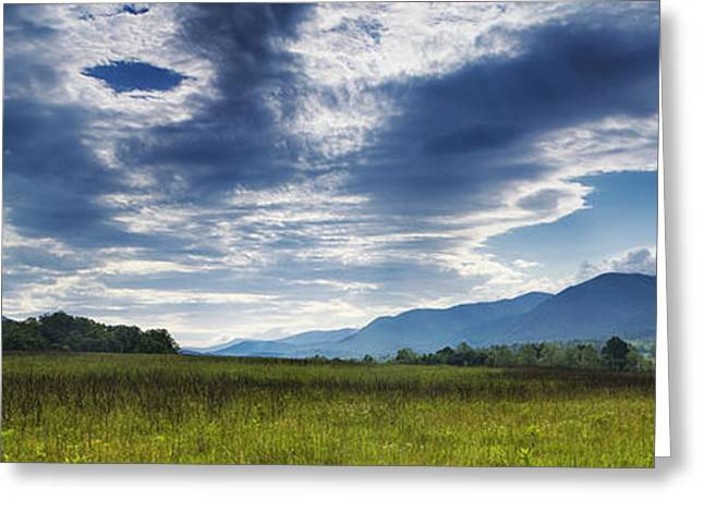 Smoky Mountain Panorama Greeting Card by Andrew Soundarajan
