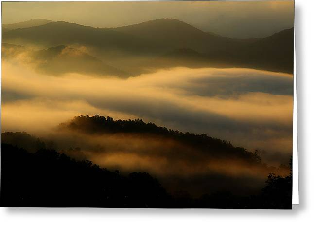Smoky Greeting Cards - Smoky Mountain Spirits Greeting Card by Michael Eingle