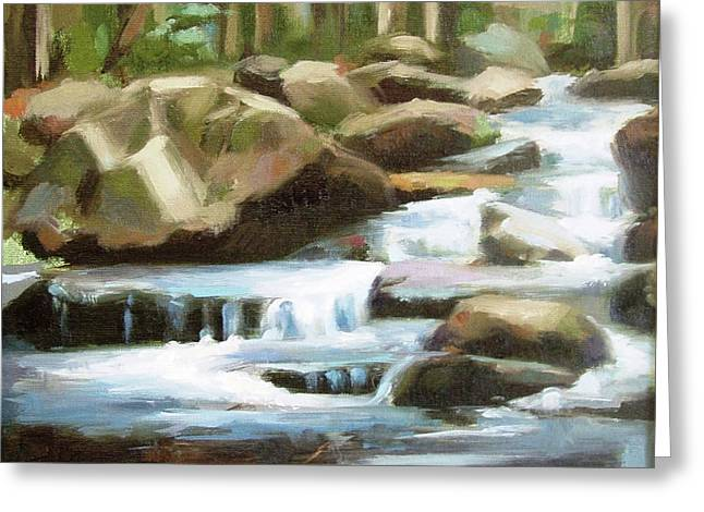 Smokey Mountains Paintings Greeting Cards - Smoky Mountain Stream Greeting Card by Erin Rickelton