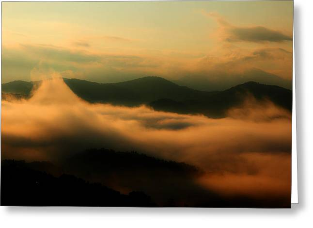 Smoky Greeting Cards - Smoky Mountain Whispers Greeting Card by Michael Eingle