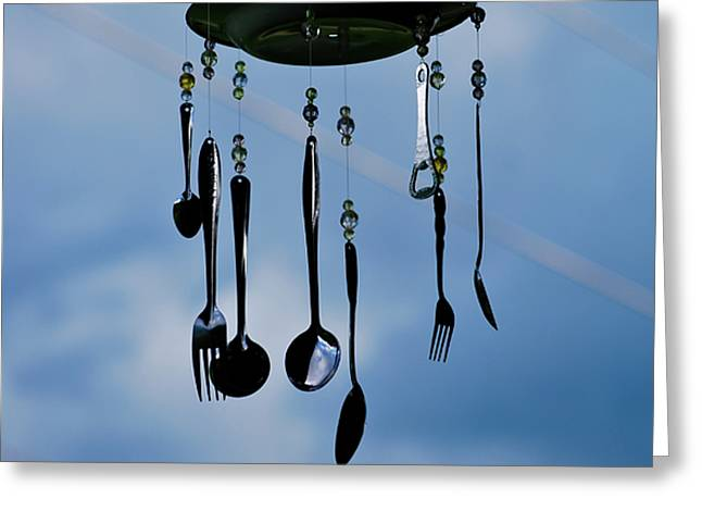 Smoky Mountain Windchime Greeting Card by Christi Kraft