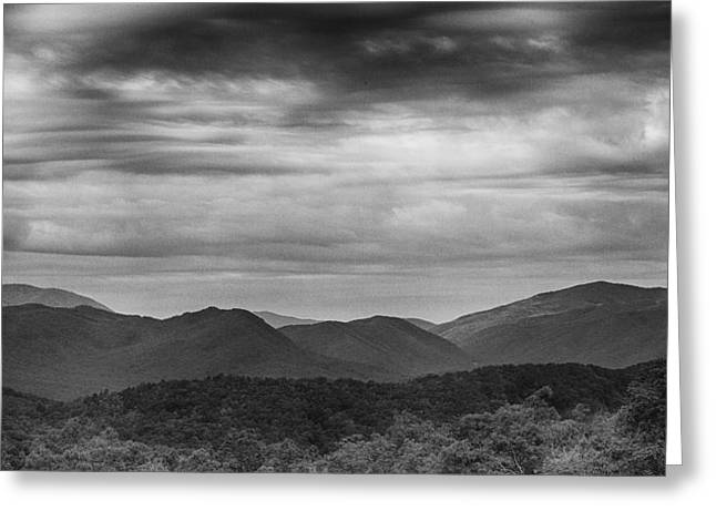 Gatlinburg Tennessee Greeting Cards - Smoky Mountains in BW Greeting Card by Stephen Stookey