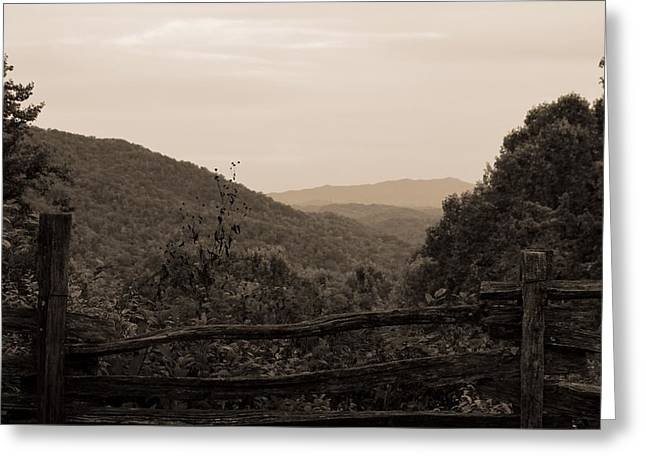 Gatlinburg Tennessee Greeting Cards - Smoky Mountains Lookout Point Greeting Card by Dan Sproul