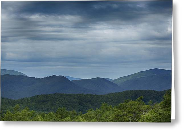 Layers Greeting Cards - Smoky Mountains Morning Clouds Greeting Card by Stephen Stookey