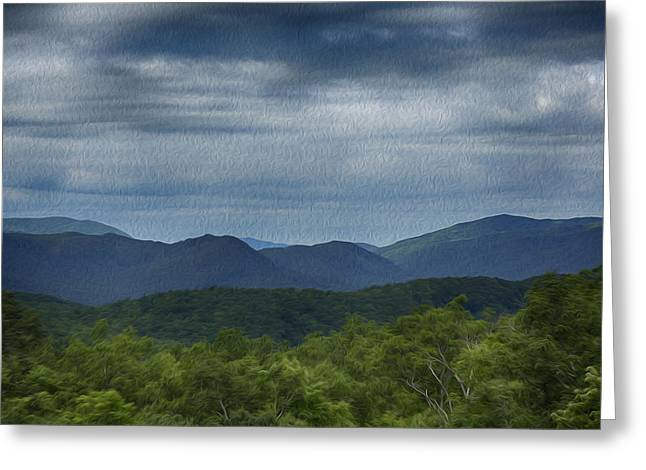 Gatlinburg Tennessee Greeting Cards - Smoky Mountains Oil Paint Greeting Card by Stephen Stookey