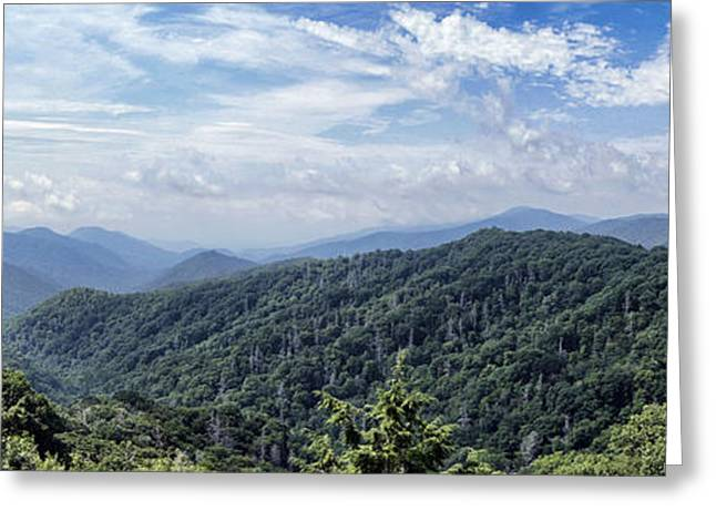 Smoky Greeting Cards - Smoky Mountains Vista Greeting Card by Cricket Hackmann