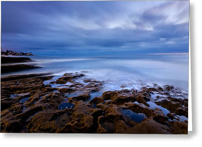 California Beach Greeting Cards - Smooth Blue Greeting Card by Peter Tellone