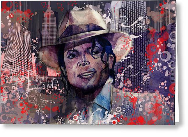 Billie Jean Greeting Cards - Smooth Criminal Greeting Card by MB Art factory