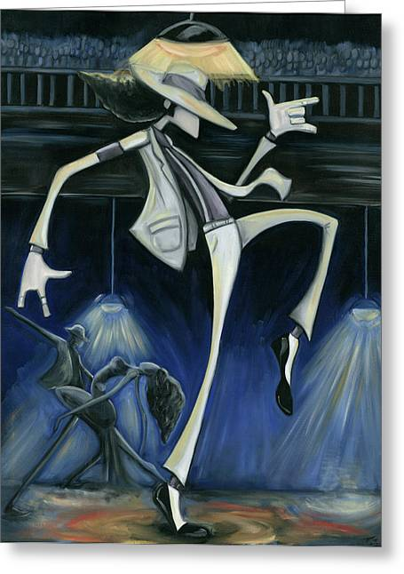 African-american Greeting Cards - Smooth Criminal Greeting Card by Tu-Kwon Thomas