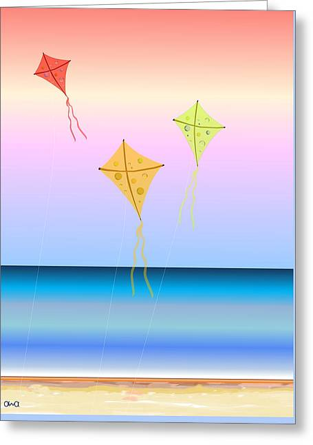 Kite Greeting Cards - Smooth Flight Greeting Card by Anna Elia