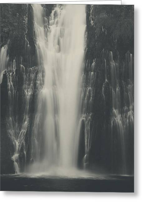 Black And White Waterfall Greeting Cards - Smooth Greeting Card by Laurie Search