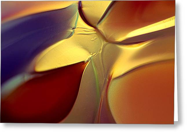 Ceramic Glass Art Greeting Cards - Smooth Moves Greeting Card by Omaste Witkowski