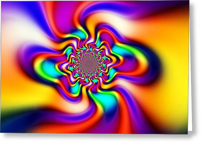Floral Digital Art Digital Art Greeting Cards - Smooth Operator Greeting Card by Ian Mitchell